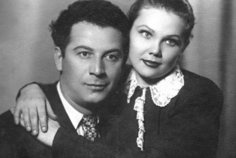 Борис Сичкин и его единственная супруга Галя Рыбак в молодости. Фото взято из свободного источника