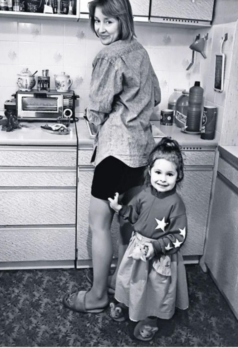 С дочкой Маней.